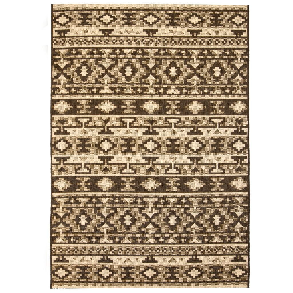 vidaXL Venkovní/vnitřní kusový koberec, sisal, 80x150cm etnický vzor