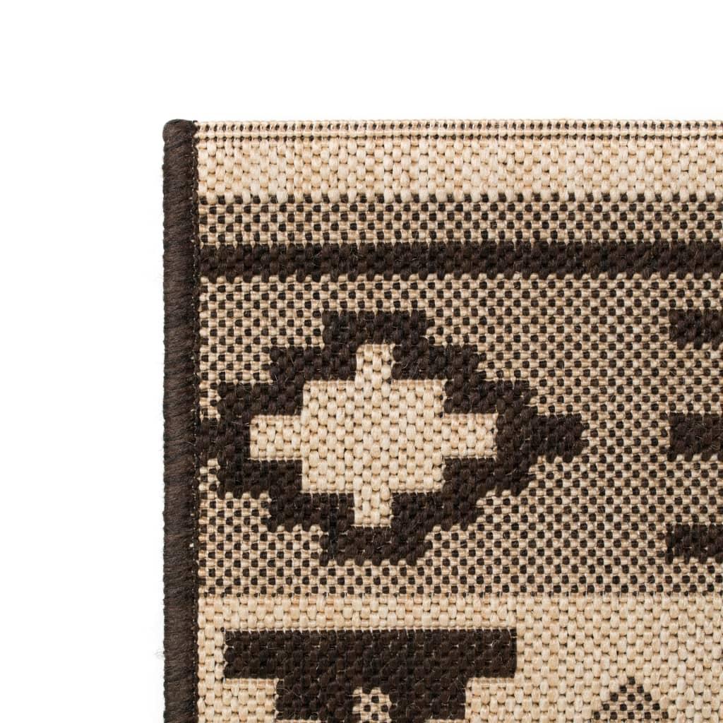 vidaXL Venkovní/vnitřní kusový koberec, sisal, 120x170cm etnický vzor