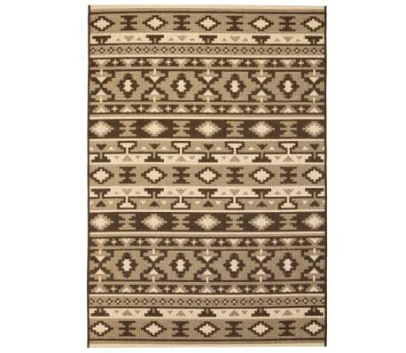vidaXL Vloerkleed binnen/buiten 140x200 cm sisal look etnisch ontwerp