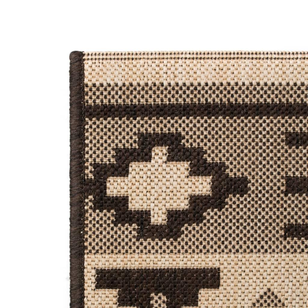 vidaXL Venkovní/vnitřní kusový koberec, sisal, 140x200cm etnický vzor