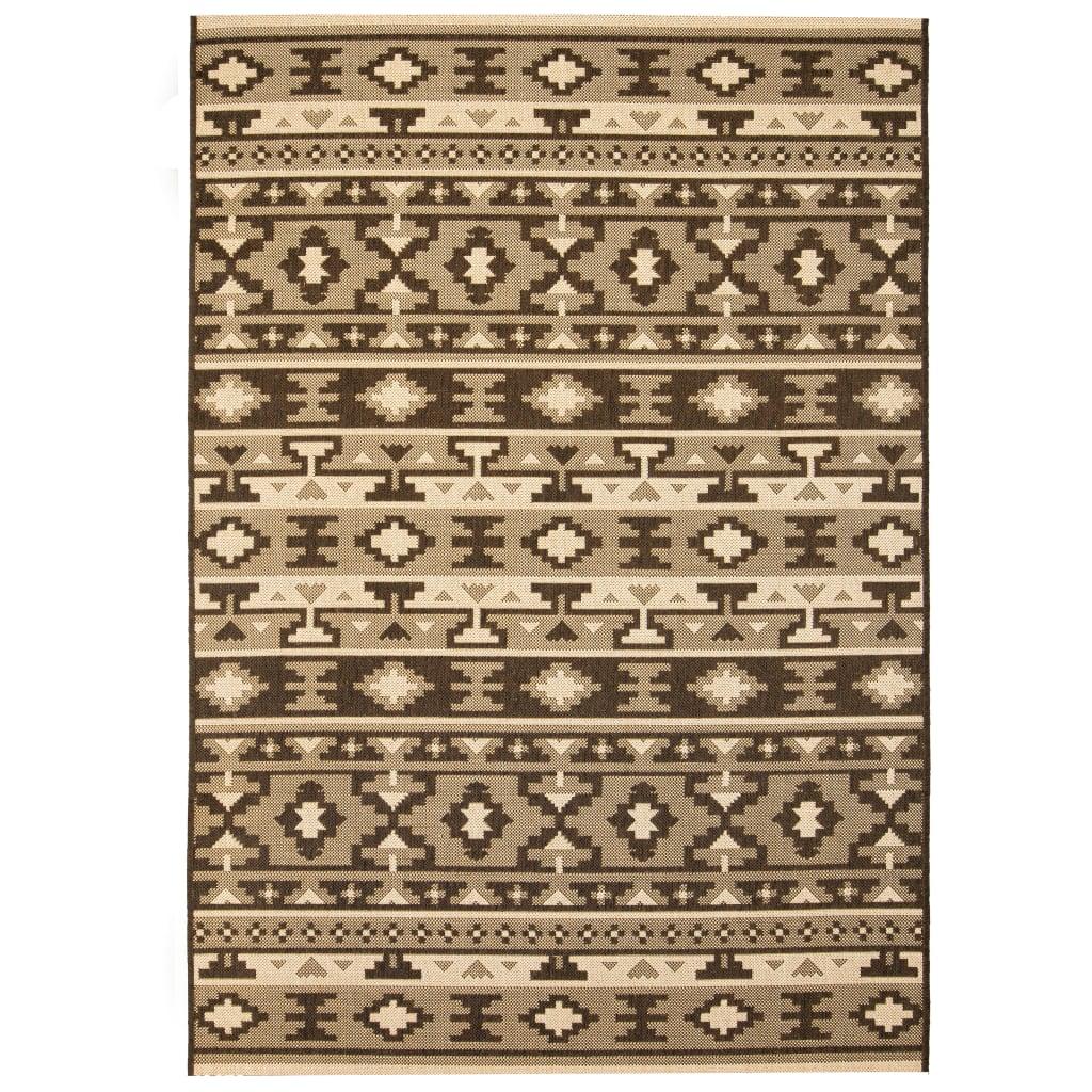 vidaXL Χαλί Εσωτερ./Εξωτερ. Χώρου Όψη Σιζάλ Ethnic Σχέδιο 180×280 εκ.