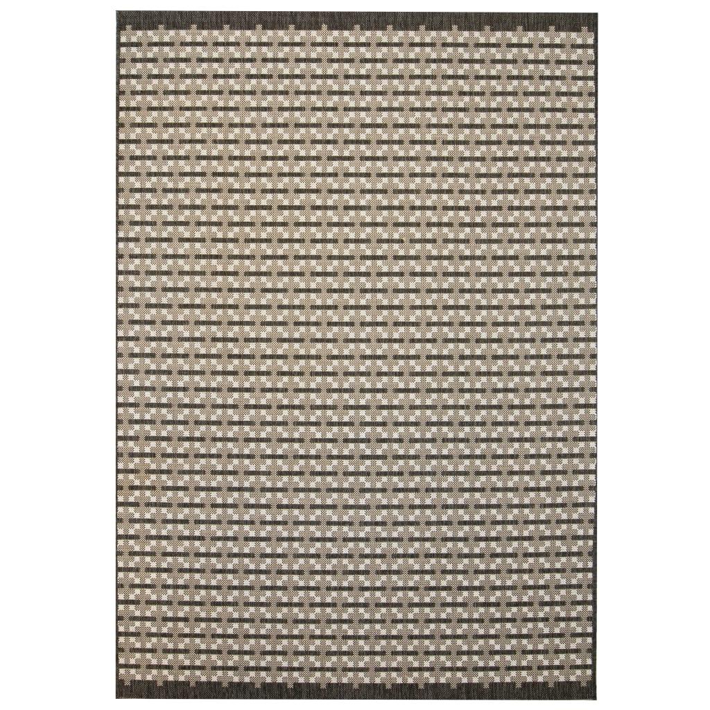 999133098 Webteppich Sisal-Optik Indoor/Outdoor 120 x 170 cm Karomuster