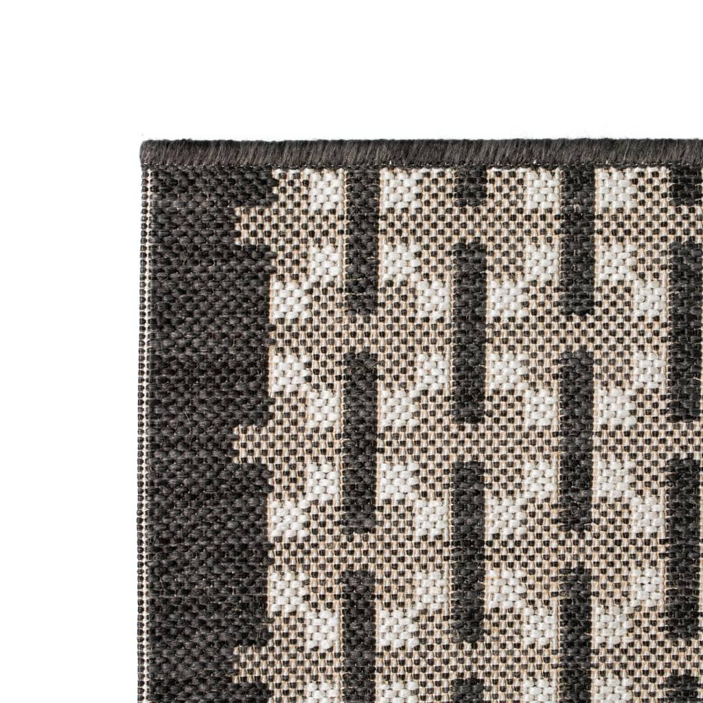 vidaXL Venkovní/vnitřní kusový koberec, sisal, 120x170cm vzor kostka