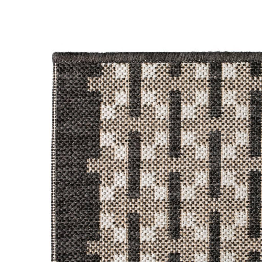 vidaXL Venkovní/vnitřní kusový koberec, sisal, 140x200cm vzor kostka
