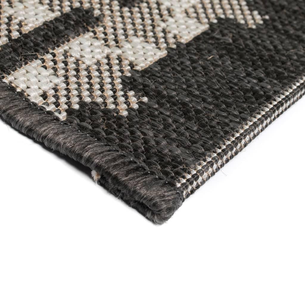 vidaXL Vloerkleed binnen/buiten 140x200 cm sisal look vierkant