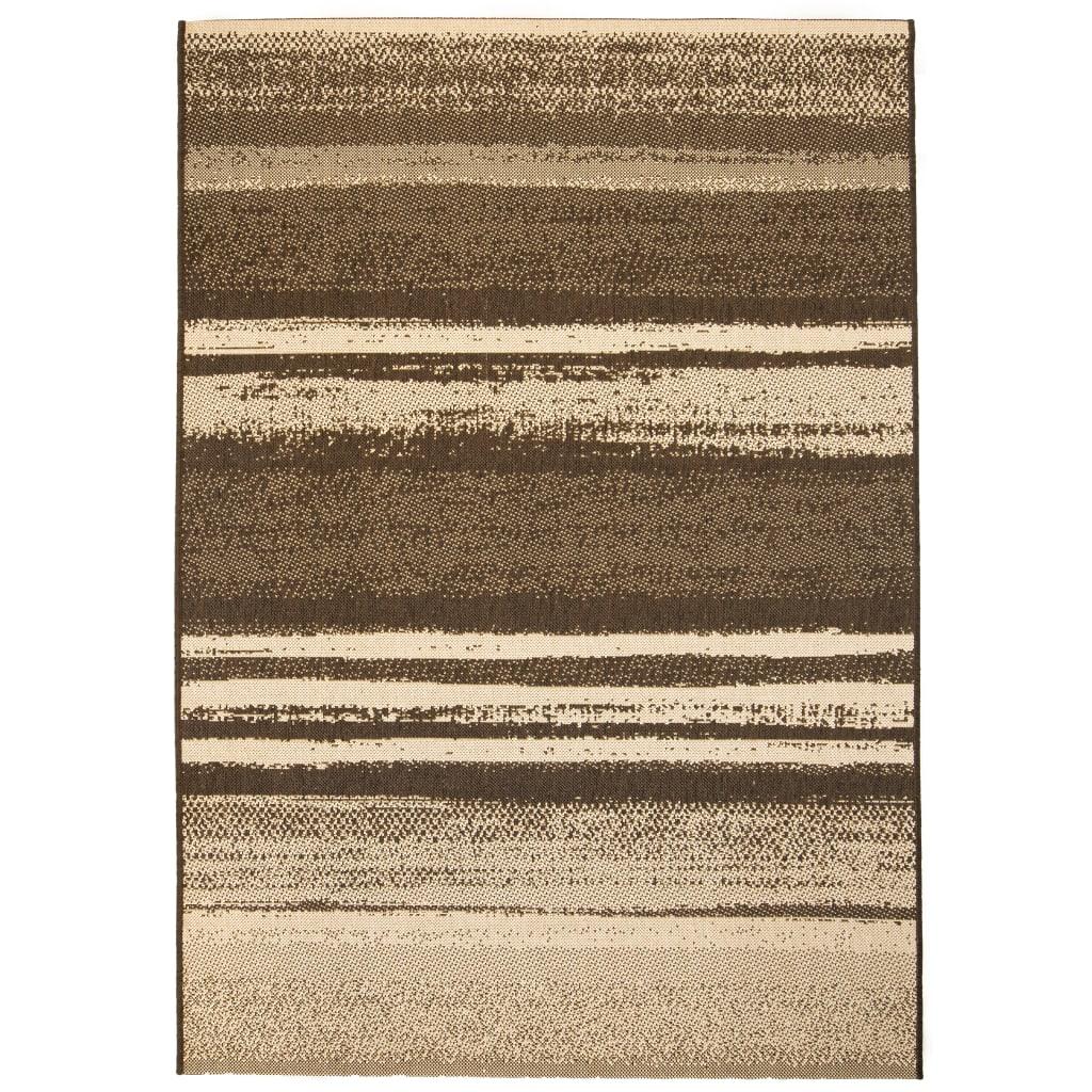 Venkovní/vnitřní kusový koberec, sisal vzhled 80x150cm pruhy
