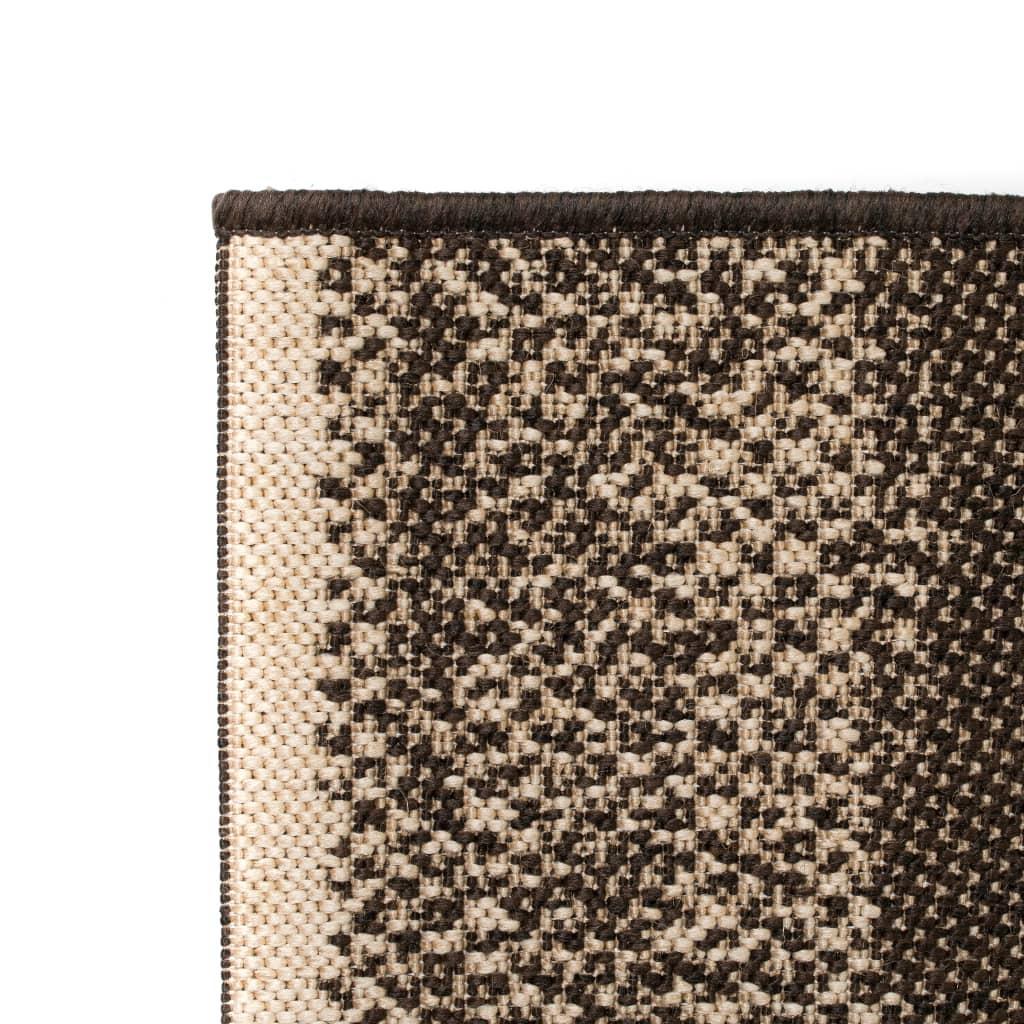 vidaXL Venkovní/vnitřní kusový koberec, sisal vzhled 80x150cm pruhy