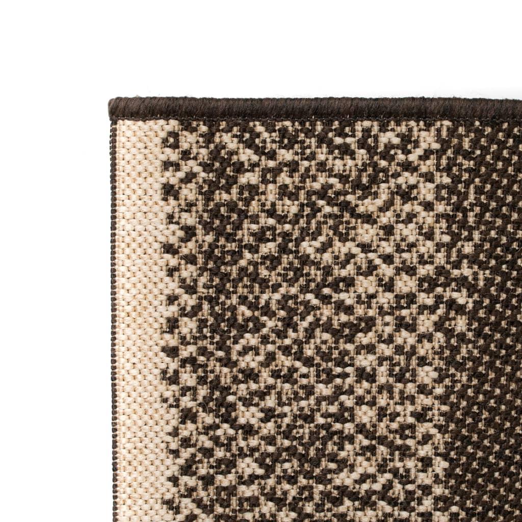 vidaXL Venkovní/vnitřní kusový koberec, sisal vzhled 120x170cm pruhy