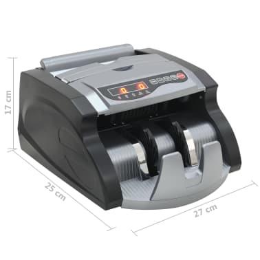 vidaXL Geldteller voor bankbiljetten zwart en grijs[12/12]