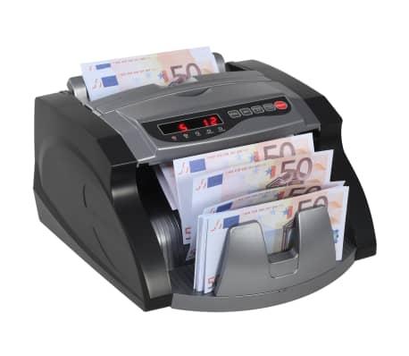 vidaXL Pengeteller for sedler svart og grå[1/12]