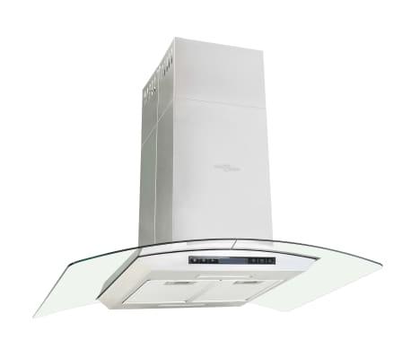 vidaXL Campana extractora de techo 90 cm pantalla táctil 756 m³/h LED