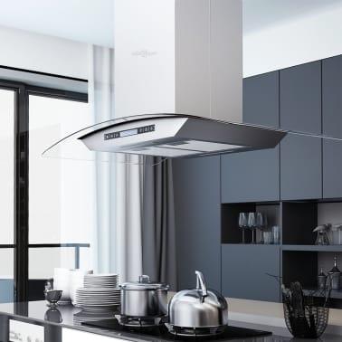vidaxl insel dunstabzugshaube 90 cm lcd touch sensor 756 m h led g nstig kaufen. Black Bedroom Furniture Sets. Home Design Ideas
