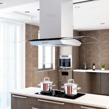 f87a333c Shop vidaXL Kjøkkenvifte 90 cm rustfritt stål 756 m³/t LED | vidaXL.no