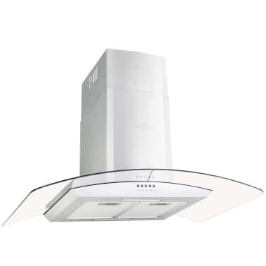 vidaXL Veggmontert kjøkkenvifte 90 cm rustfritt stål 756 m³/t LED[2/8]