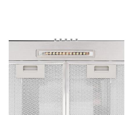vidaXL Veggmontert kjøkkenvifte 90 cm rustfritt stål 756 m³/t LED[7/8]