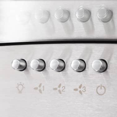 vidaXL Veggmontert kjøkkenvifte 90 cm rustfritt stål 756 m³/t LED[5/8]