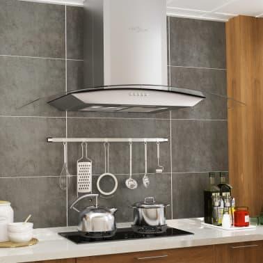 vidaXL Veggmontert kjøkkenvifte 90 cm rustfritt stål 756 m³/t LED[1/8]