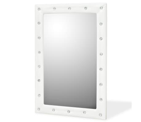 vidaXL Seinäpeili keinonahka 60x90 cm kiiltävä valkoinen[1/5]