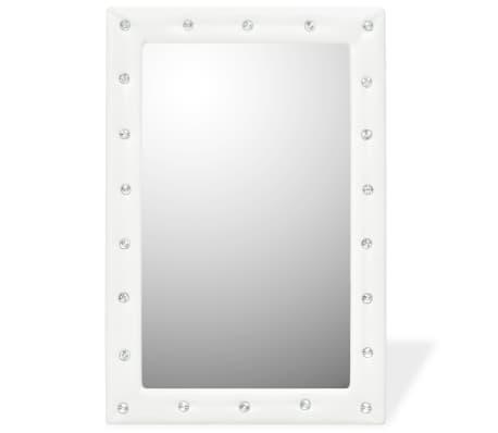 vidaXL Seinäpeili keinonahka 60x90 cm kiiltävä valkoinen[2/5]