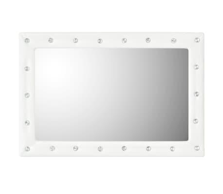 vidaXL Seinäpeili keinonahka 60x90 cm kiiltävä valkoinen[3/5]