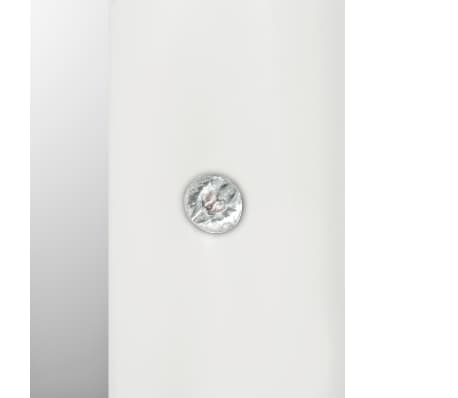 vidaXL Seinäpeili keinonahka 60x90 cm kiiltävä valkoinen[5/5]