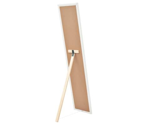 vidaXL Spiegel vrijstaand 30x150 cm kunstleer glanzend wit[4/6]