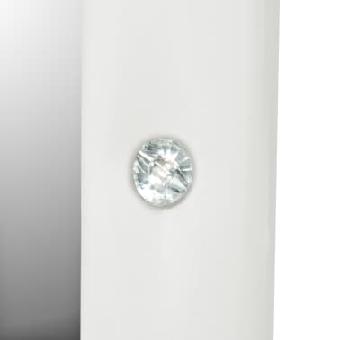 vidaXL Samostoječe ogledalo umetno usnje 30x150 cm sijoče bele barve[5/6]