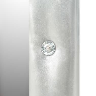 vidaXL Seinäpeili keinonahka 60x120 cm kiiltävä hopea[5/5]