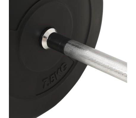 vidaXL Langhantel-Set 30 kg[5/5]