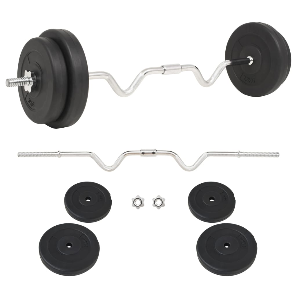 vidaXL Set haltere, 30 kg imagine vidaxl.ro