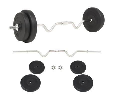 vidaXL Langhantel-Set 30 kg[1/5]
