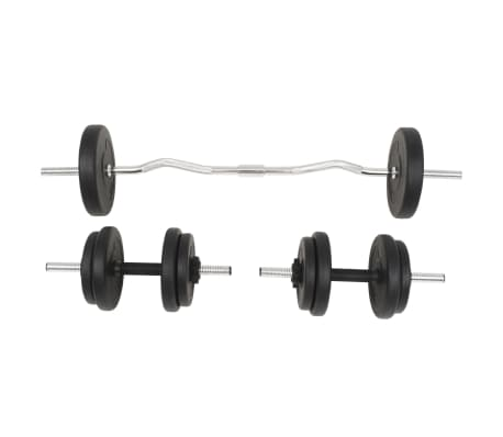 vidaXL Langhantel- und Kurzhantelset 30 kg[2/10]