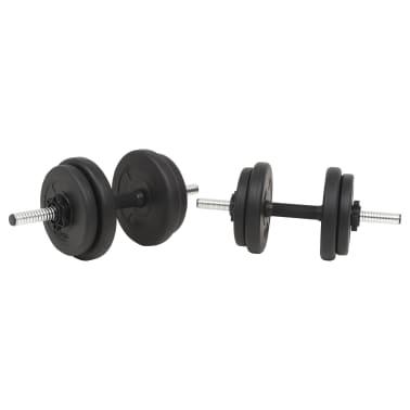 vidaXL Langhantel- und Kurzhantelset 30 kg[4/10]
