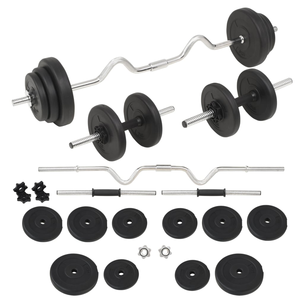 vidaXL Set de haltere și gantere, 30 kg vidaxl.ro