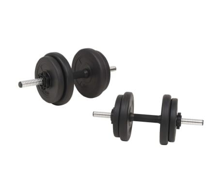 vidaXL Langhantel- und Kurzhantelset 60 kg[4/9]
