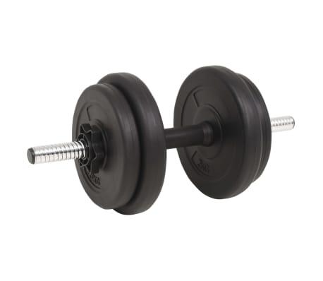 vidaXL Juego de pesas 60 kg barra y mancuernas[6/9]