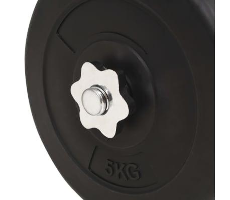 vidaXL Juego de pesas 60 kg barra y mancuernas[9/9]