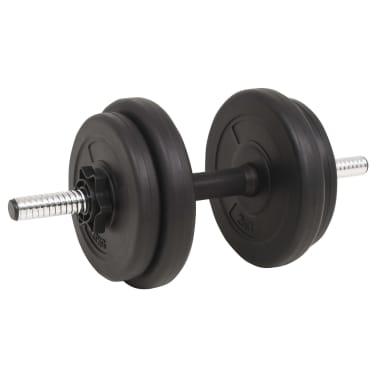 vidaXL Langhantel- und Kurzhantelset 60 kg[6/9]