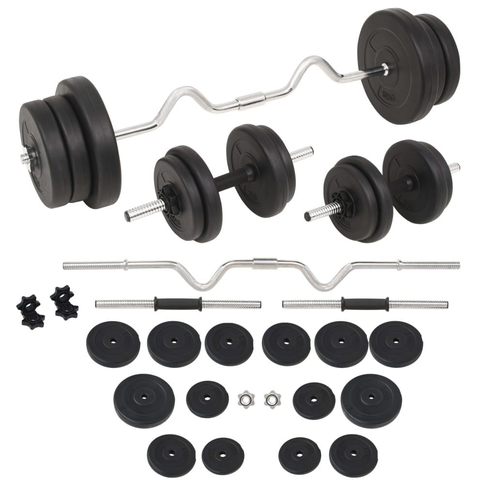 vidaXL Set de haltere și gantere, 60 kg vidaxl.ro