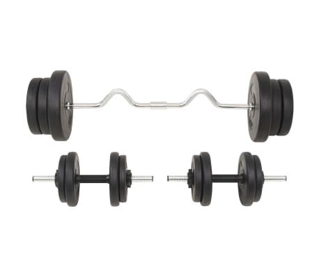 vidaXL Ensemble d'haltères et barres d'haltères 60 kg[3/9]