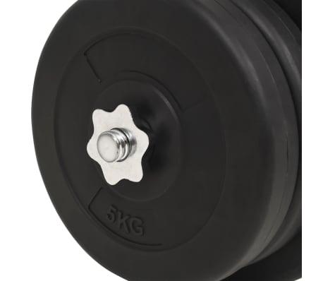 vidaXL Ensemble d'haltères et barres d'haltères 60 kg[9/9]