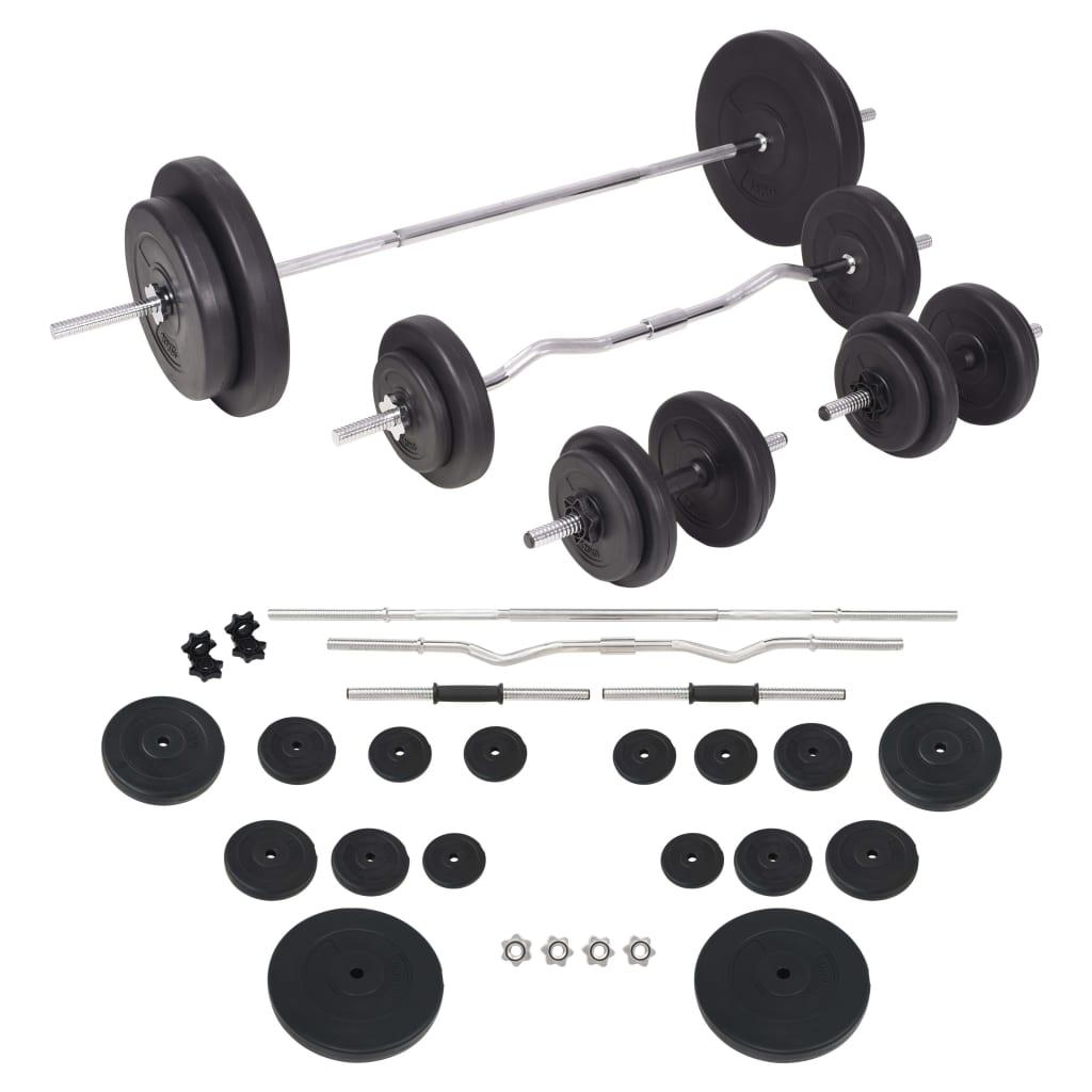 vidaXL Set de haltere și gantere 90 kg vidaxl.ro