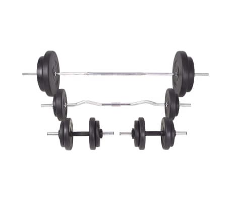 vidaXL Langhantel- und Kurzhantelset 90 kg[3/13]