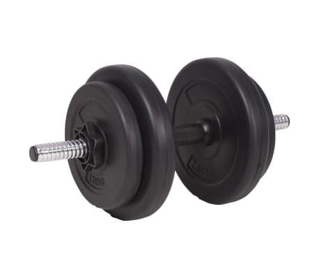 vidaXL Langhantel- und Kurzhantelset 90 kg[9/13]