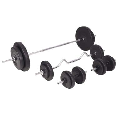 vidaXL Set de haltere și gantere 90 kg[2/13]