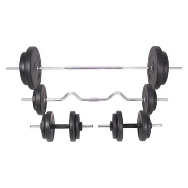 vidaXL Set de haltere și gantere 90 kg[3/13]