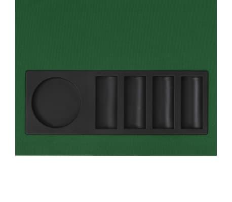 vidaXL Dessus de table de poker 8 joueurs 4 plis rectangulaire Vert[6/9]