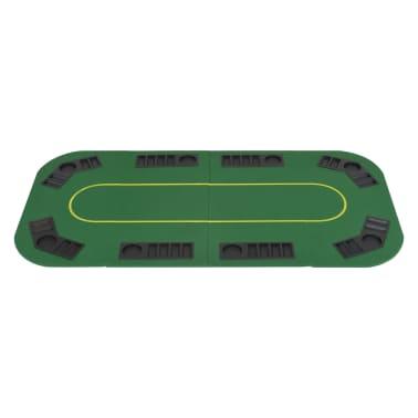 vidaXL Pokerio stalviršis, sulankst., 8 žaidėjams, 4d., stač., žalias[3/9]