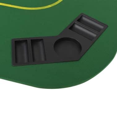 vidaXL Dessus de table de poker 8 joueurs 4 plis rectangulaire Vert[5/9]