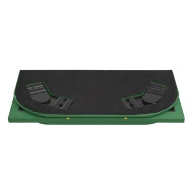 vidaXL Dessus de table de poker 8 joueurs 4 plis rectangulaire Vert[7/9]